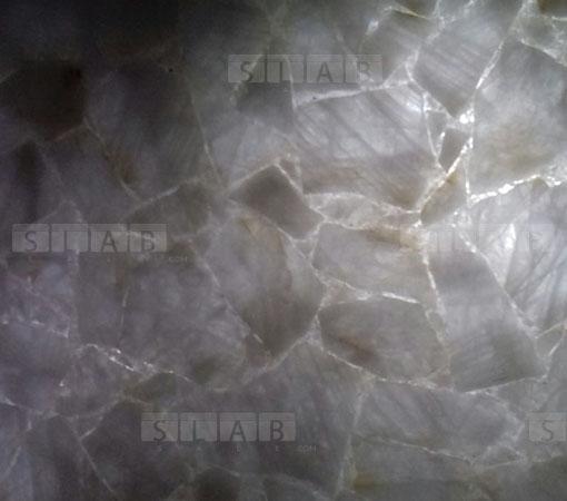 White Quartz Translucent Luminous Tiles Slabs For Sale