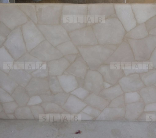 White Quartz Translucent Luminous Tiles Slabs For Sale